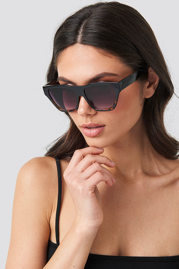 NA-KD Accessories Two-Toned Shield Sunglasses svart