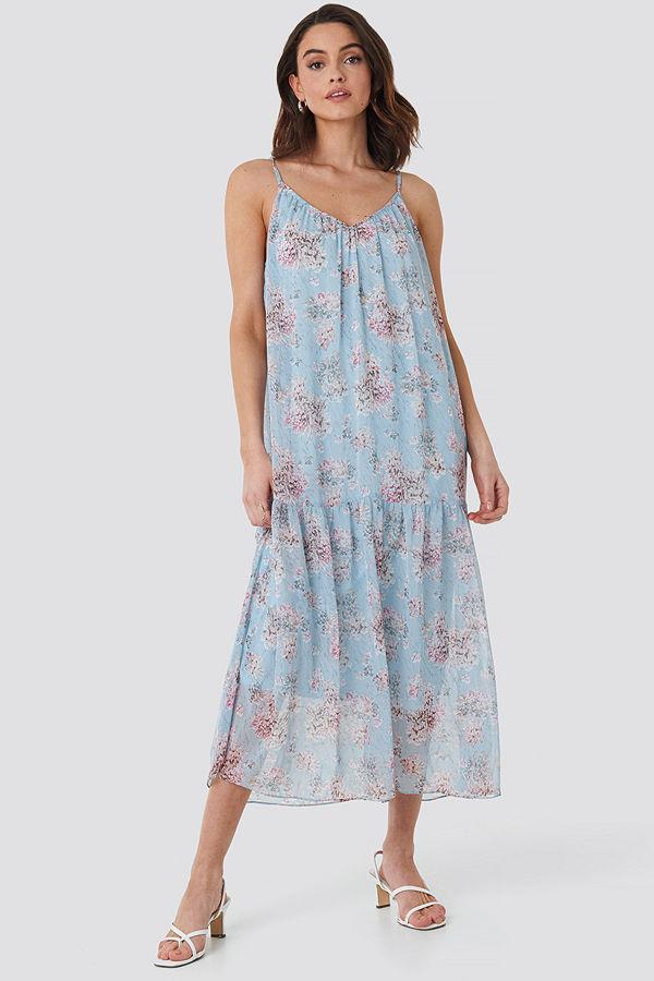 NA-KD Trend Thin Strap Ankle Dress blå