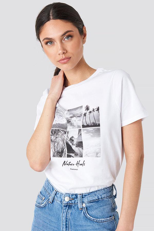 NA-KD Breathe Deeply T-shirt vit
