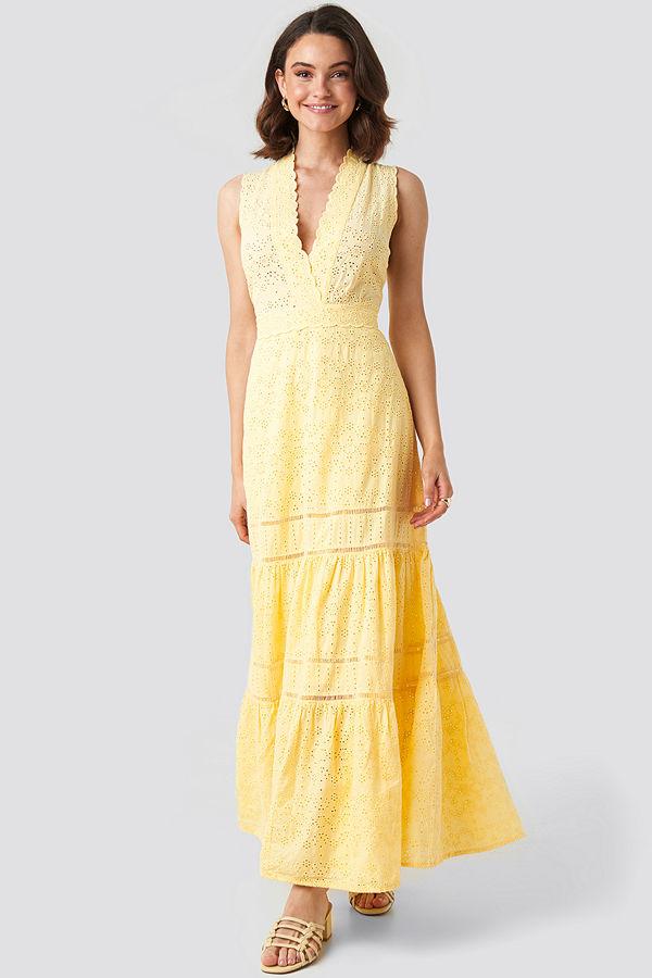 Mango Formen Dress gul