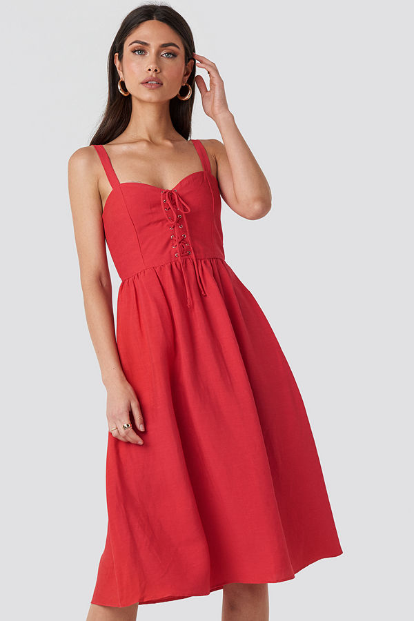 Mango Fame Dress röd