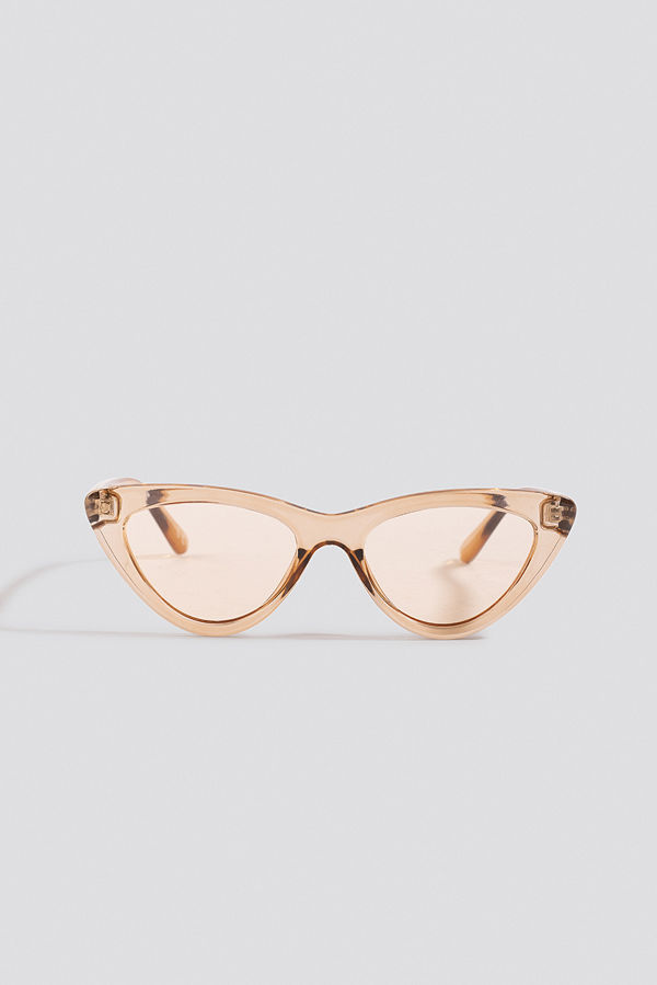 NA-KD Accessories Rounded Cat Eye Sunglasses brun