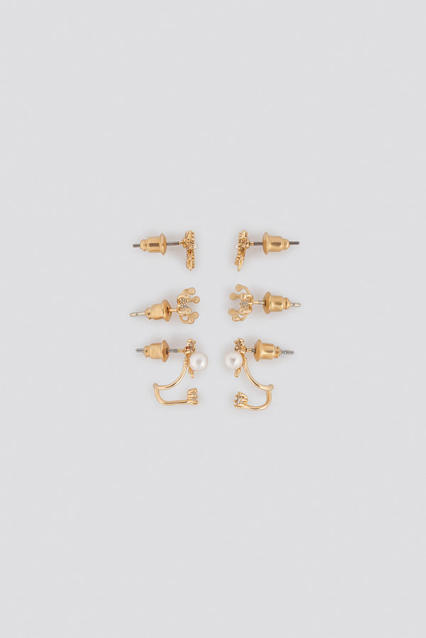 NA-KD Accessories smycke Multipack Sparkling Earstuds (3 Sets) guld