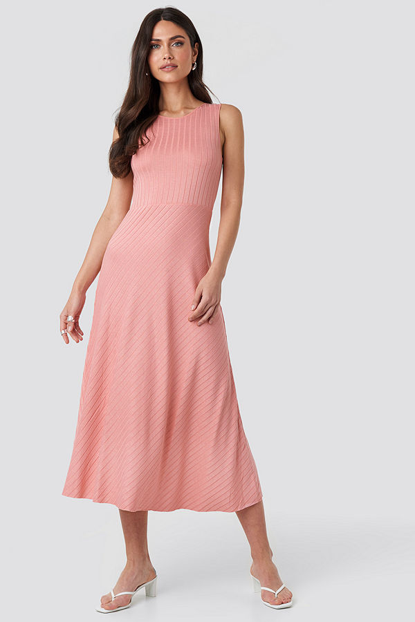 Mango Chicle Dress rosa