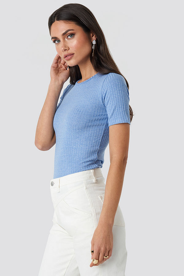 Sisters Point Pro-Short Sleeve Top blå