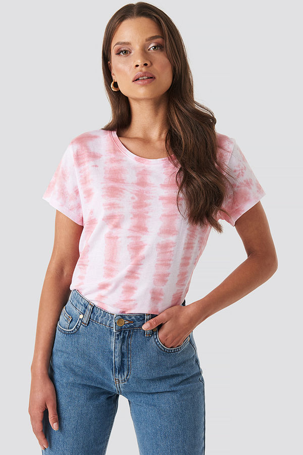 XLE the Label Mike Tie Dye Tee rosa