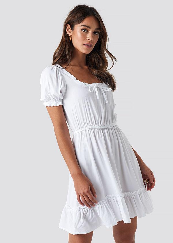 NA KD Boho Klänning vit Klänningar online Modegallerian