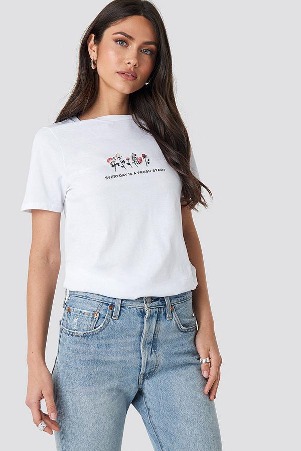 NA-KD Fresh Start T-shirt vit
