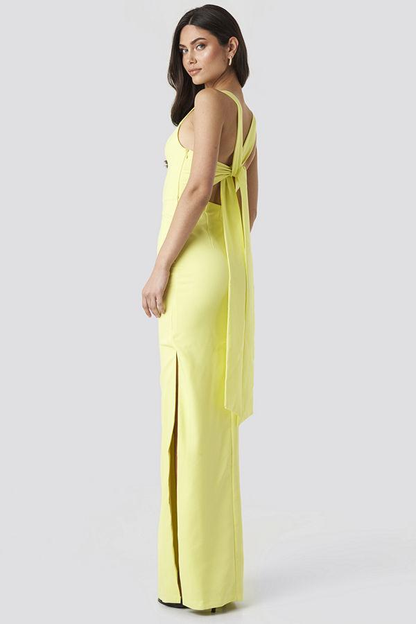 Trendyol Back Detail Evening Dress gul