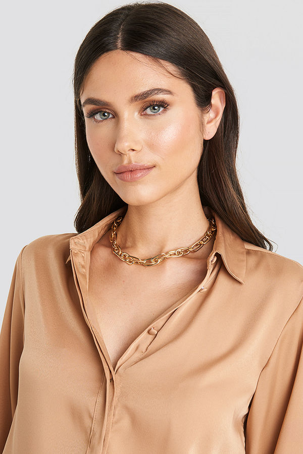 NA-KD Accessories smycke Connected Chain Necklace guld