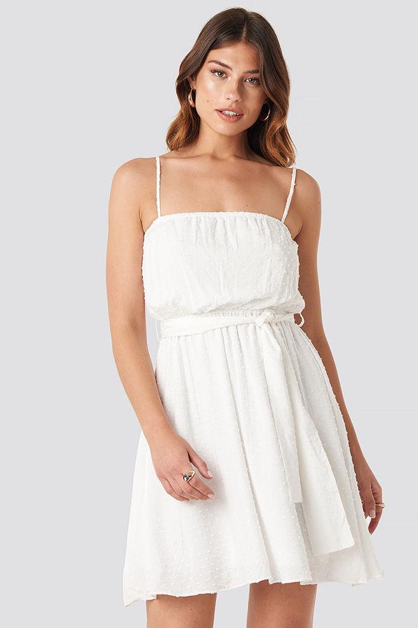 Trendyol Mini Strap Mini Dress vit