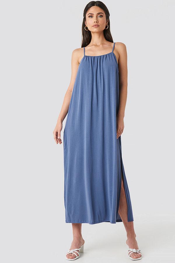 Mango Cubi Dress blå