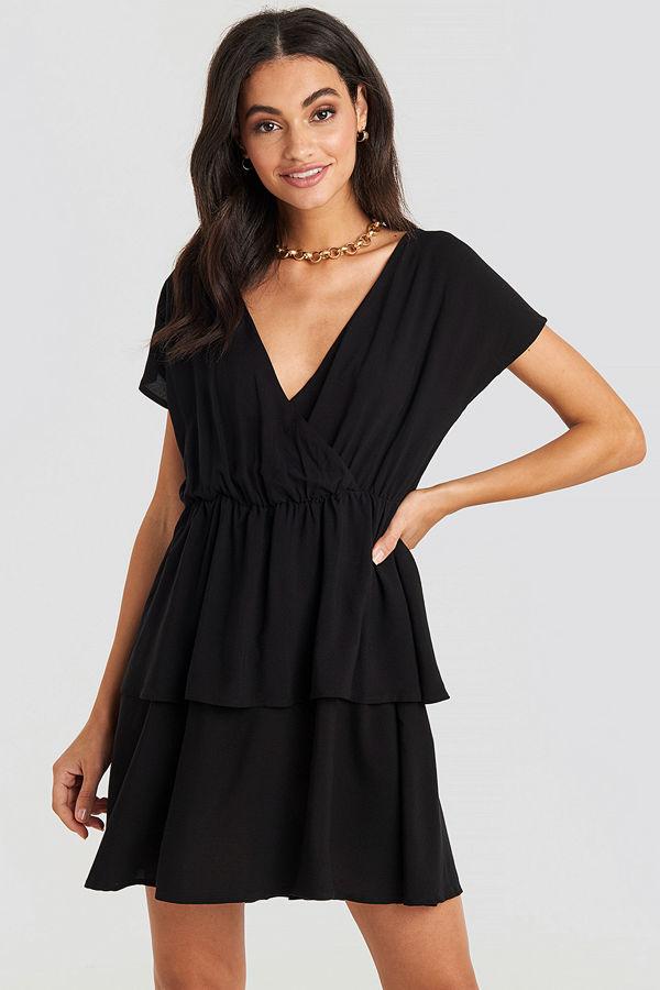 NA-KD Waist Detail Mini Dress svart