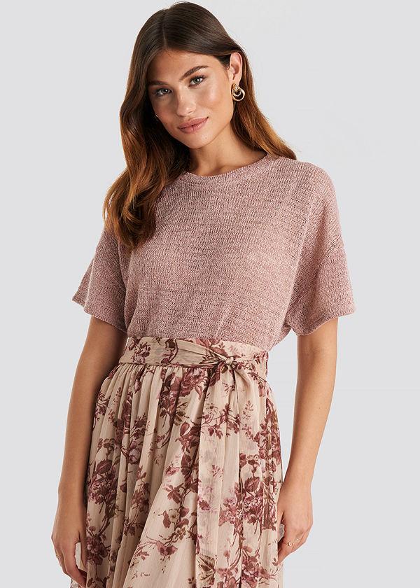 Mango Rous T-shirt rosa
