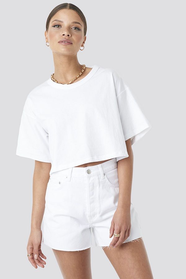 Beyyoglu Cropped Basic T-Shirt vit