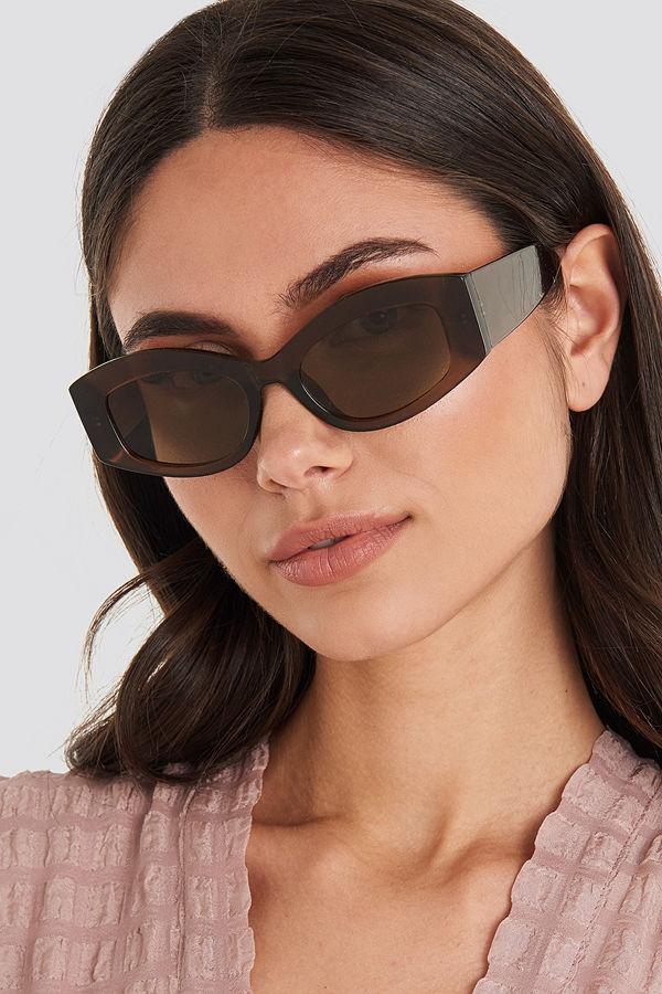 Mango Rectang Sunglasses brun