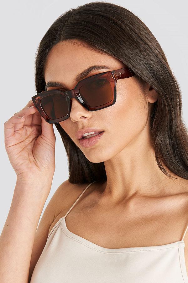 NA-KD Accessories Square Frame Sunglasses brun