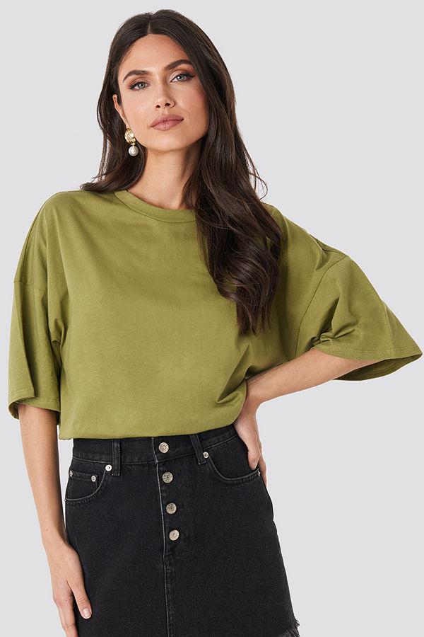 NA-KD Oversized Boxy T-shirt grön