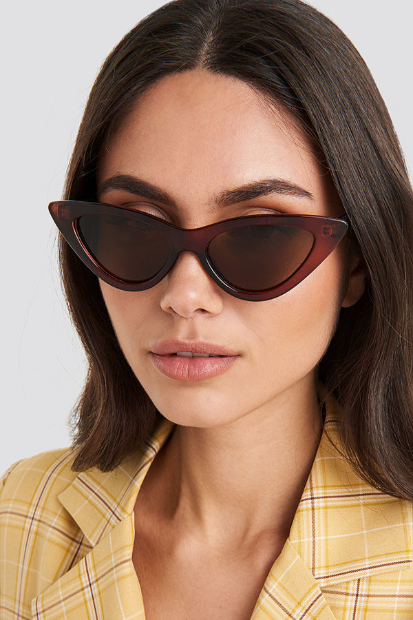 NA-KD Accessories Pointy Cat Eye Sunglasses brun