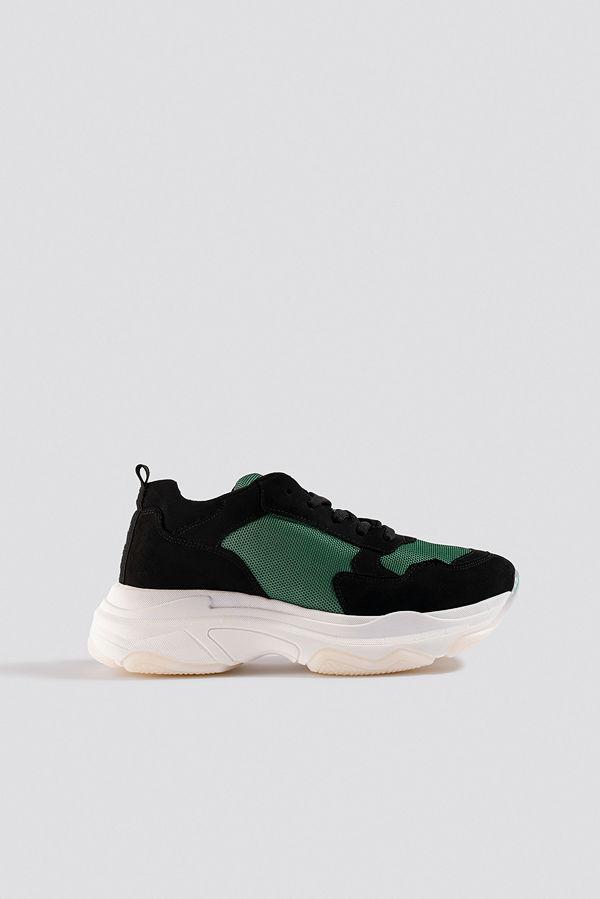NA-KD Shoes Chunky Green Sneakers svart grön
