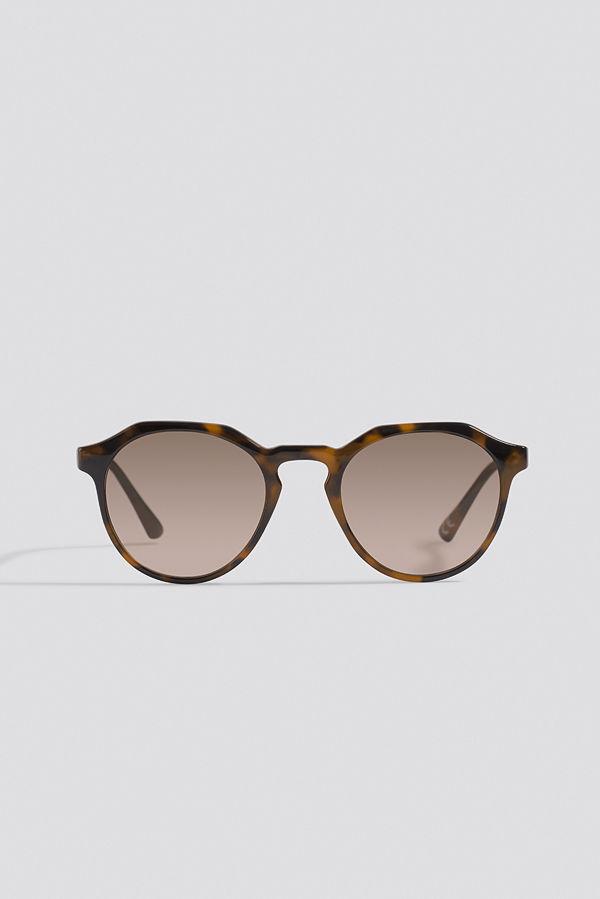 NA-KD Accessories Round Edged Sunglasses brun