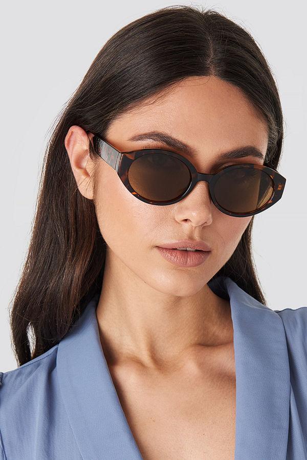 NA-KD Accessories Retro Drop Shape Sunglasses brun