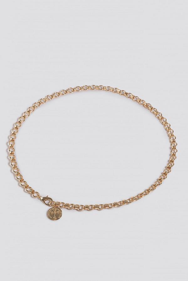 NA-KD Accessories Chunky Chain Belt guld