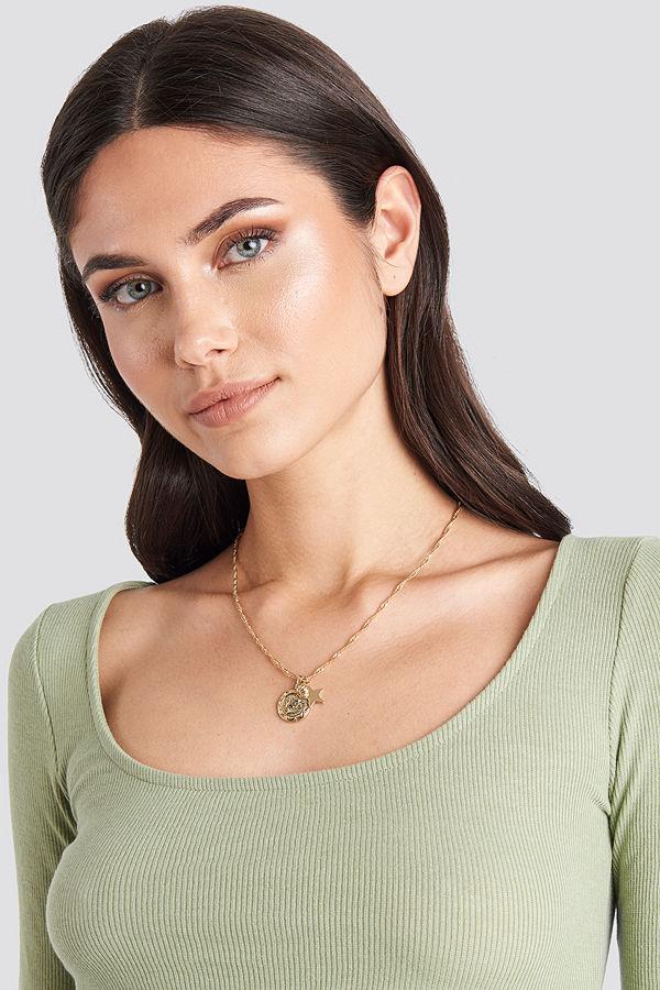 NA-KD Accessories smycke Three Pendants Necklace guld