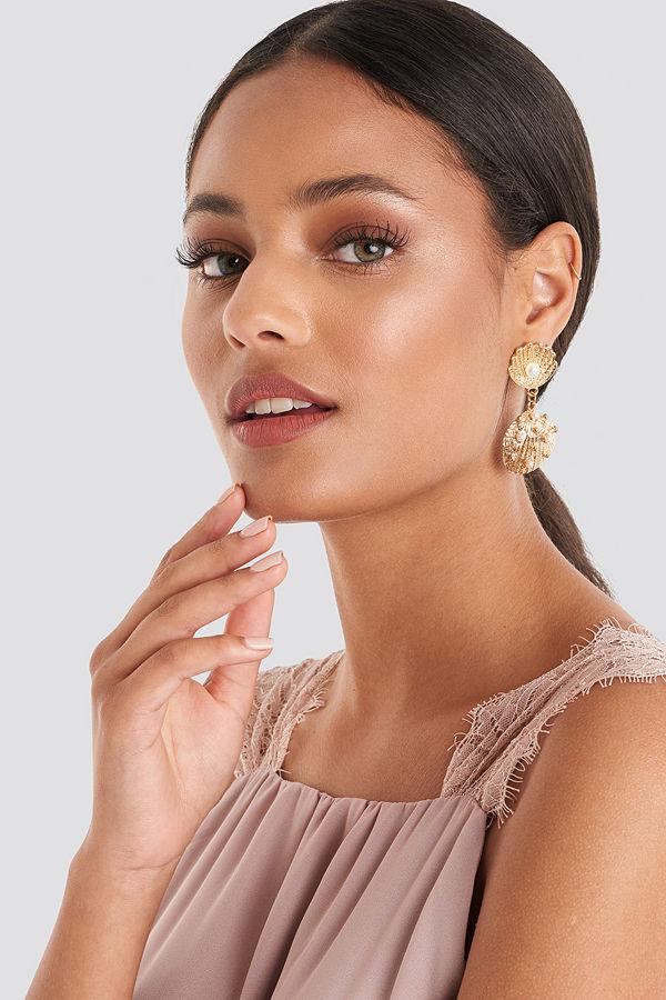 Trendyol smycke Sea Shell Pearl Detailed Earring guld