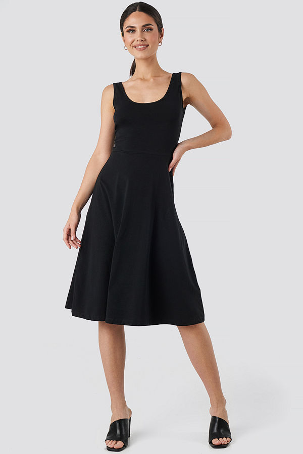 Trendyol Sleeveless Jersey Midi Dress svart
