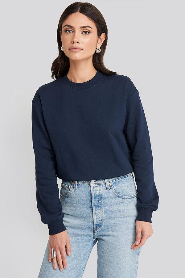 NA-KD Basic Basic Sweater blå