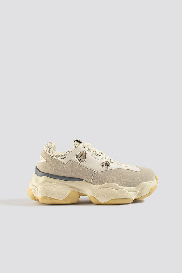 NA-KD Shoes Chunky Graphic Sole Trainers beige