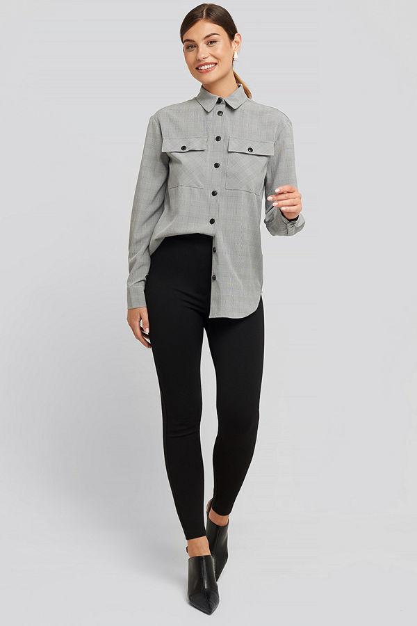 NA-KD High Waist Jersey Pants svart