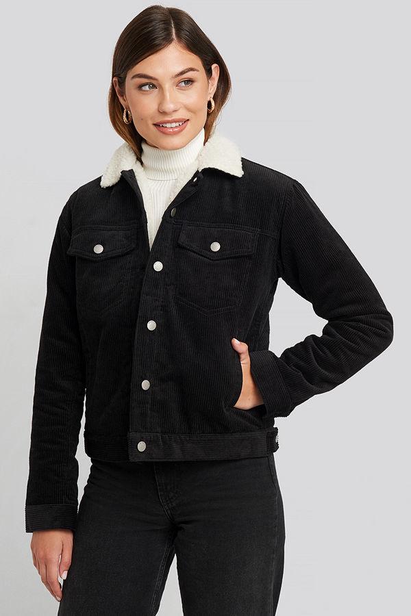 Dr. Denim Sana Sherpa Jacket svart