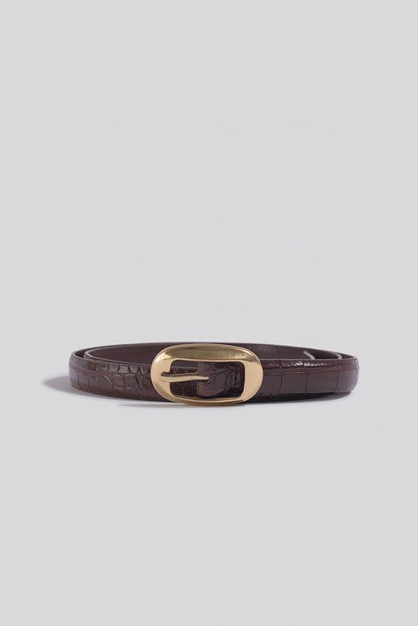 Mango Celia Belt brun