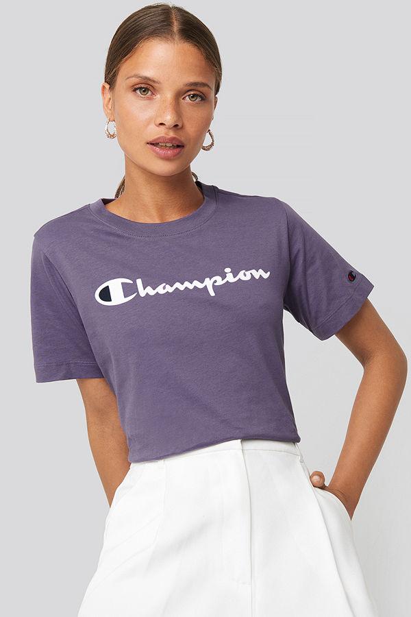 Champion Crewneck Tee 111971 lila