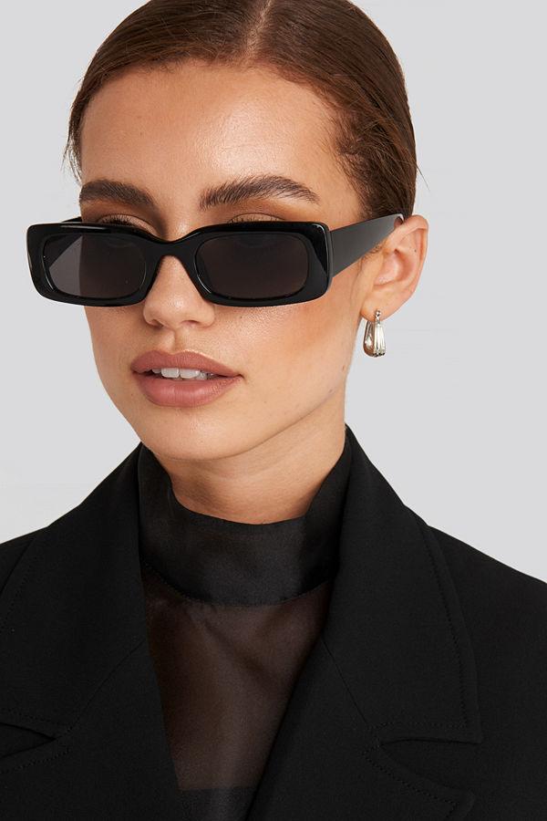 NA-KD Accessories Wide Retro Look Sunglasses svart