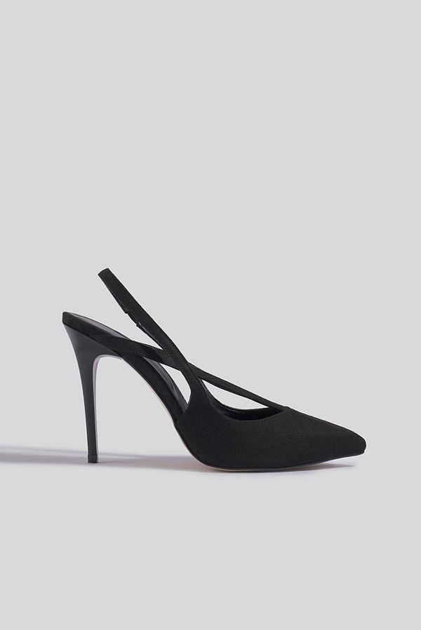 Trendyol Black Suede High Heels svart