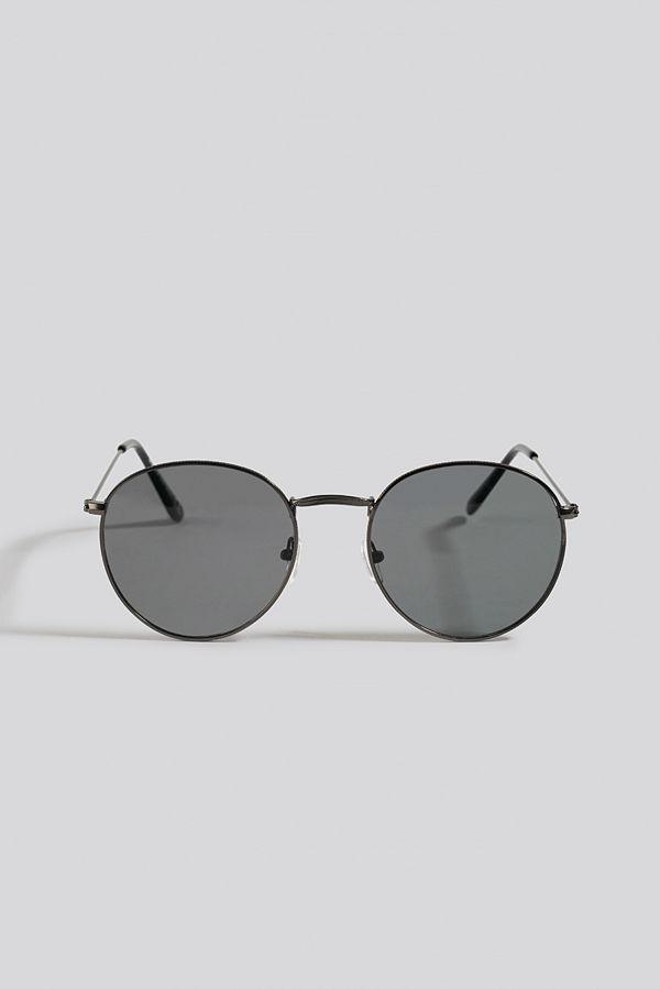 NA-KD Accessories Round Metal Sunglasses svart