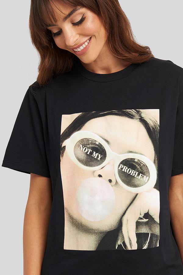 NA-KD Not My Problem Oversized T-shirt Dress svart