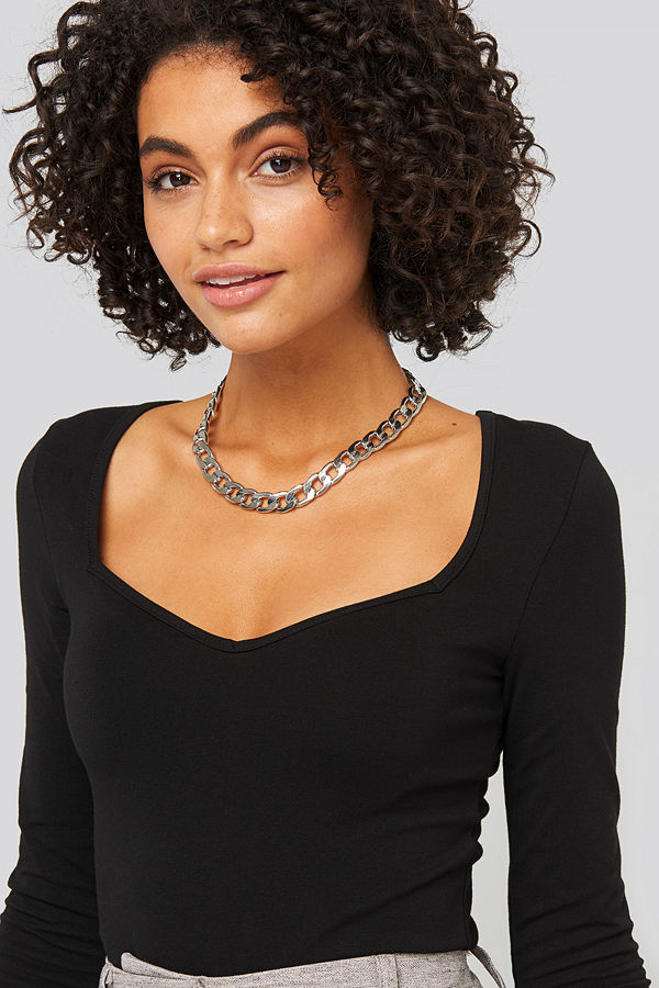 NA-KD Accessories smycke Chunky Chain Necklace silver