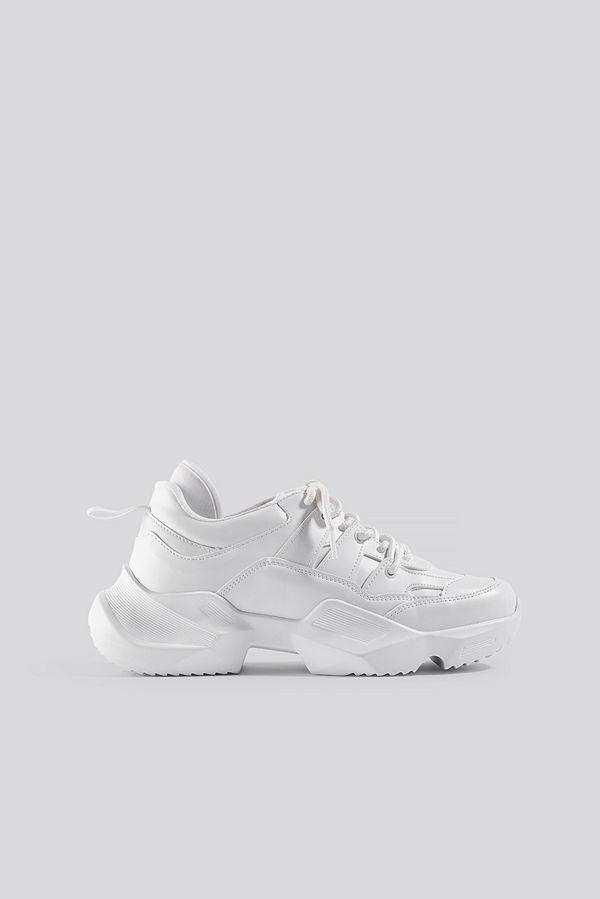 Danny Saucedo x NA-KD Chunky Sneaker vit