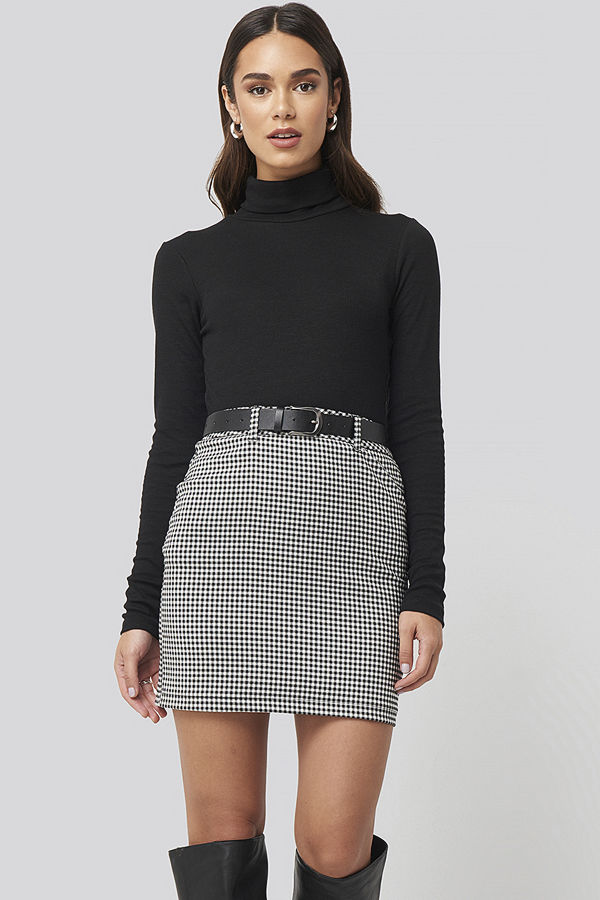 Nicci Hernestig x NA-KD Checked Skirt multicolor