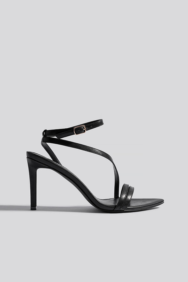 NA-KD Shoes Pointy Sole Strappy Heels svart