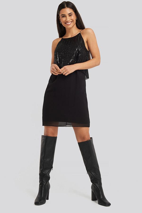 Mango Onyx Dress svart