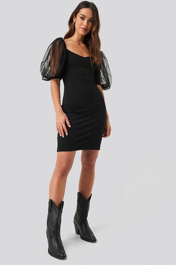 Mango Bulloves Dress svart