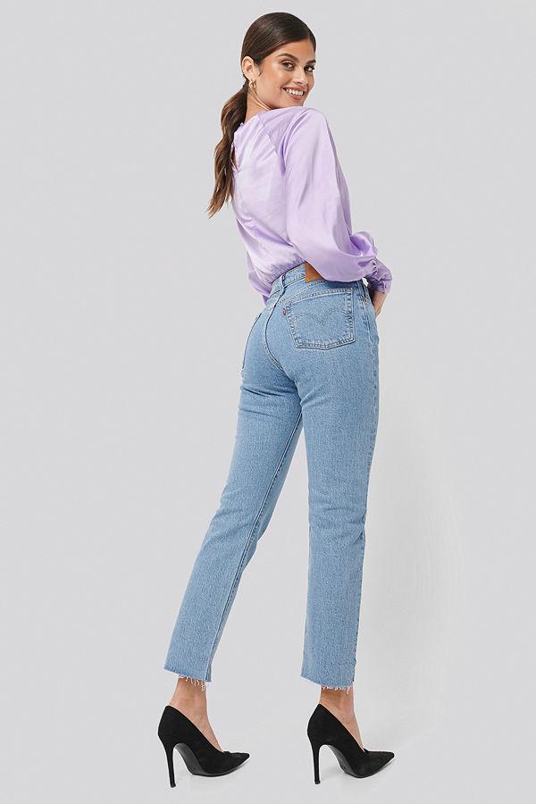 Levi's 501 Crop Jeans blå