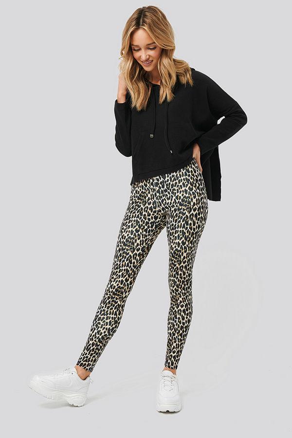 NA-KD Leopard Print Leggings multicolor