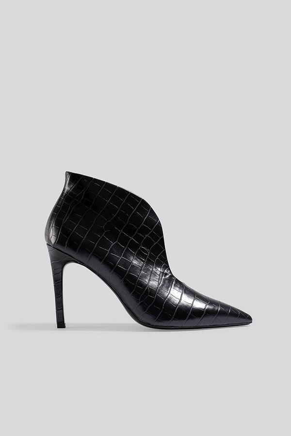 Mango Pico Ankle Boots svart