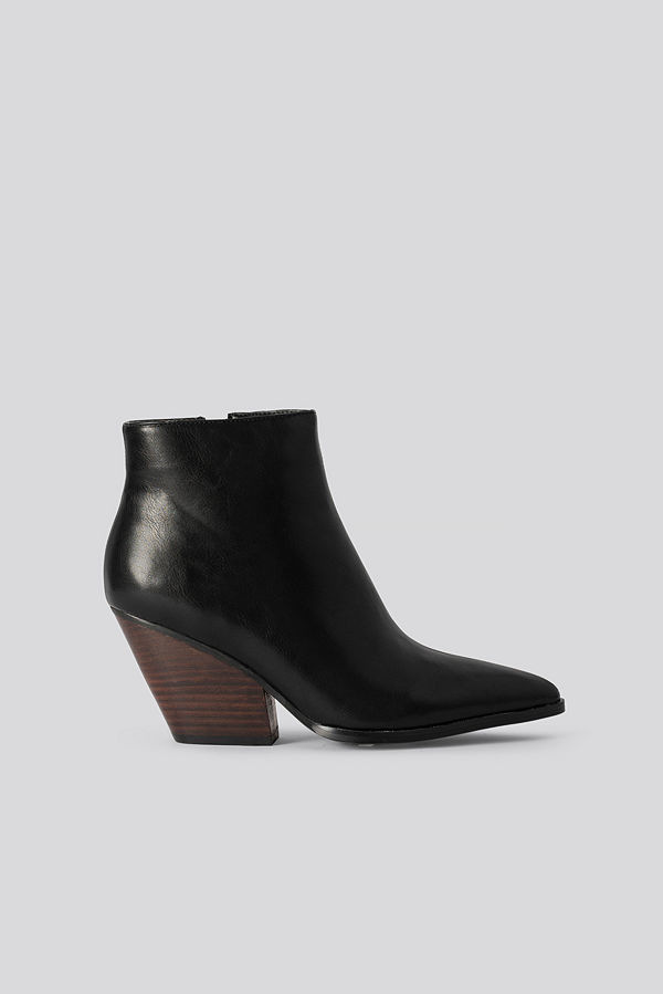 NA-KD Shoes Western Heel Pointy Boots svart